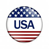 An Usa Button