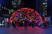 Geo Glow Dome In Martin Place Sydney During Vivid Festival