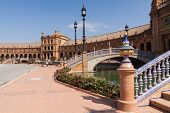 Famous Plaza De Espana In Seville