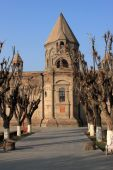 The Etchmiadzin Cathedral In Autumn