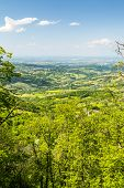 foto of apennines  - Rolling Hills of the Apennines Mountains Piacenze Italy - JPG