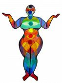 Plus Size Yoga Chakra Illustration
