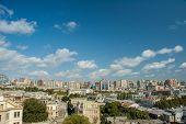 View of Baku Azerbaijan on bright summer day