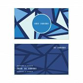 Vector abstract ice chrystals vertical round frame pattern business cards set