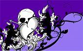 heraldic heart arrows crest background8