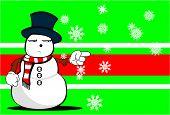 snow man cartoon xmas background02