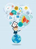 Social Media Concept Illustration