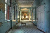 Age Corridor In The Old Hospital Beelitz
