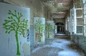 Corridor In An Abandoned Hospital In Beelitz