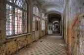 Abandoned Corridor In Beelitz Heilstätten