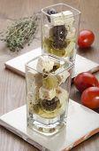 Mediterranean Salad In A Shot Glass
