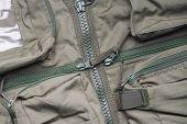 Closeup of military uniform