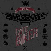 Design Elements For The Cafe Bar For Bikers.