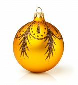 Christmas Golden Ball With A Pattern