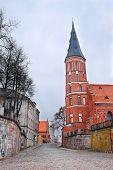 historical Vytautas church in Kaunas city, Lithuania