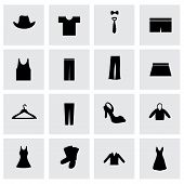 Vector clothes icon set