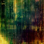 Old grunge template. With different color patterns: black; green; brown; yellow
