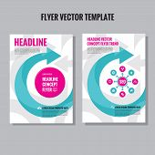 Abstract flyer vector template. Brochure vector template. Abstract arrows composition. Abstract back