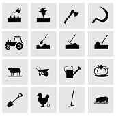 Vector farming icon set
