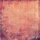 Vintage textured background. With different color patterns: orange; red; purple (violet)