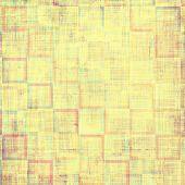 Textured old pattern as background. With different color patterns: gray; orange; brown; yellow; green