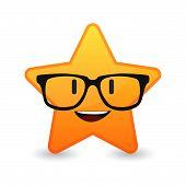 Cute Star Avatar Wearing Glasses