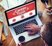Digital Online Career Tools Employement Working Concept
