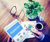 Digital Online Website Health Care Concept