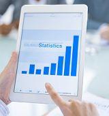 Digital Online Business Statistics Concept
