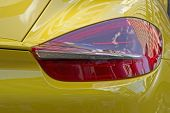 Tail Light On Sports Car