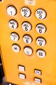 Yellow Public Pay Phone Keypad