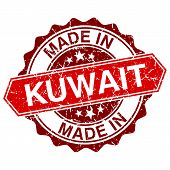 stock photo of kuwait  - made in Kuwait red stamp isolated on white background - JPG