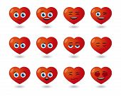 Cute Heart  Avatar Expression Set