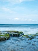 stock photo of tanah  - Amazing landscape at The Tanah Lot Temple - JPG
