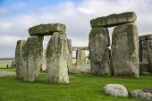 pic of megaliths  - The Stonehenge historic monument in England - JPG