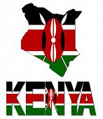 Kenya map flag and text illustration