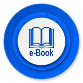 book icon, e-book sign