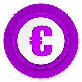 euro icon, violet button