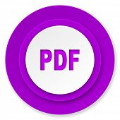 pdf icon, violet button