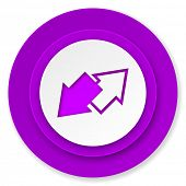 exchange icon, violet button