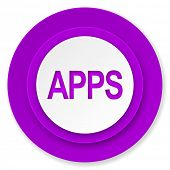 apps icon, violet button