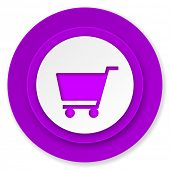 cart icon, volet button, shop sign