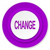 change icon, violet button