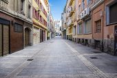 a street in Vitoria-Gasteiz City in the Basque Country Spain