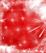 red defocused lights background. abstract bokeh lights