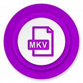 mkv file icon, violet button