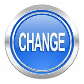 change icon, blue button