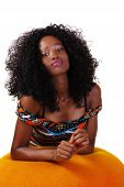 stock photo of skinny  - Young Skinny Attractive Black Teen Girl Confident - JPG
