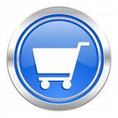 cart icon, blue button, shop sign