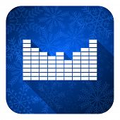sound flat icon, christmas button